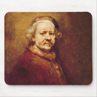 Self Portrait in at the Age of 63, 1669 Mouse Mat