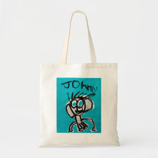 Self Portrait in Blue by Johnny (with name) Tote Bag