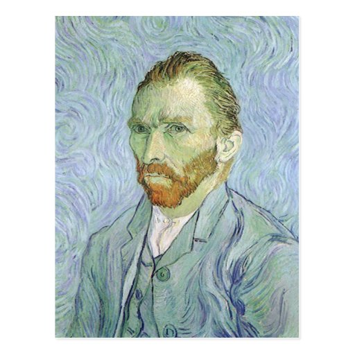 Self Portrait in Blue by Vincent van Gogh Post Cards