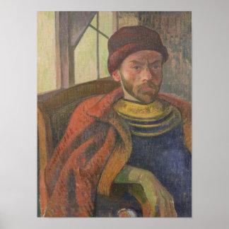 Self Portrait in Breton Costume, c.1889 Poster