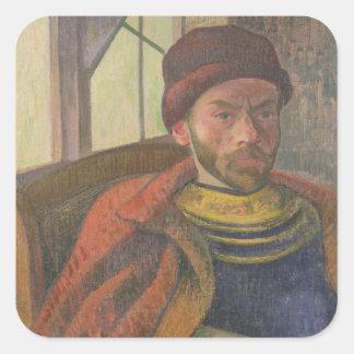 Self Portrait in Breton Costume, c.1889 Square Sticker