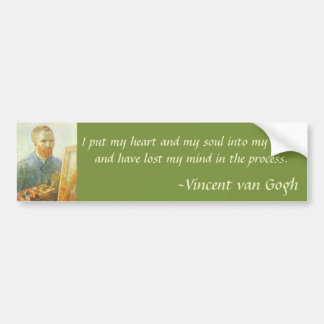 Self Portrait in Front of Easel, Vincent van Gogh Bumper Sticker