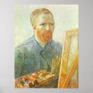 Self Portrait in Front of Easel Vincent van Gogh Poster