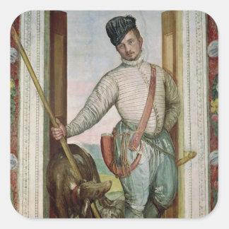 Self Portrait in Hunting Costume, 1562 Square Sticker