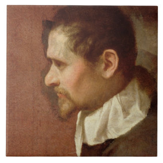Self Portrait in Profile (oil on canvas) Tile