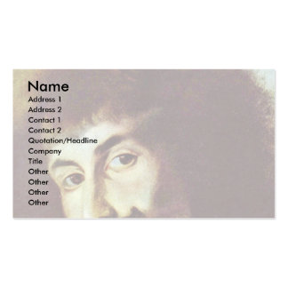 Self-Portrait In The Painting Of St. Charles Borro Business Card