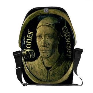 Self portrait medallion, c.1450 (enamel on copper) courier bag