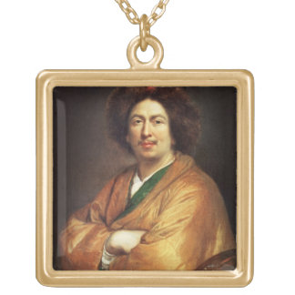 Self Portrait (oil on canvas) 4 Gold Plated Necklace
