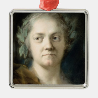 Self Portrait (oil on paper) Christmas Ornament