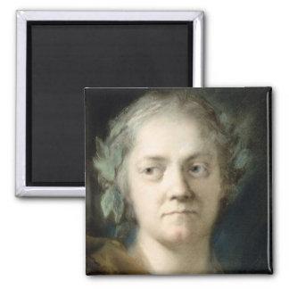Self Portrait (oil on paper) Square Magnet