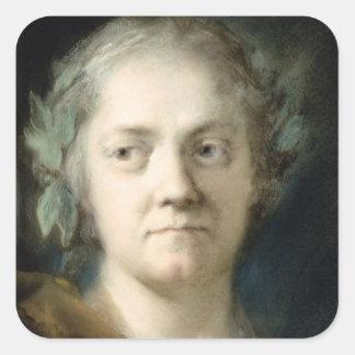 Self Portrait (oil on paper) Square Stickers