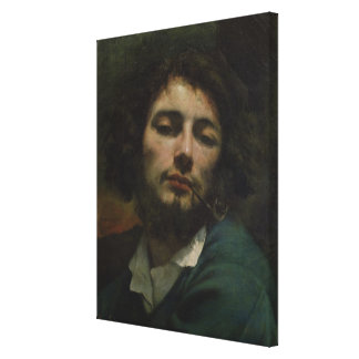 Self Portrait or, The Man with a Pipe, c.1846 Canvas Print
