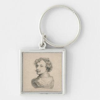 Self-portrait Silver-Colored Square Key Ring