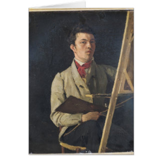 Self Portrait, Sitting next to an Easel, 1825 Card