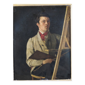 Self Portrait, Sitting next to an Easel, 1825 Postcard