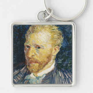 Self Portrait Vincent van Gogh fine art painting Silver-Colored Square Key Ring