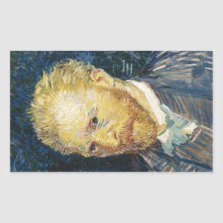 Self Portrait Vincent van Gogh fine art painting Rectangular Sticker
