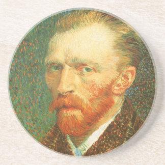 Self Portrait, Vincent van Gogh, Vintage Fine Art Sandstone Coaster
