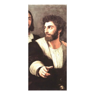 Self Portrait with a Friend by Raphael Customized Rack Card