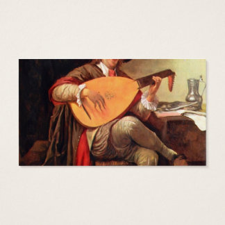 Self-portrait with a lute by Jan Steen Business Card