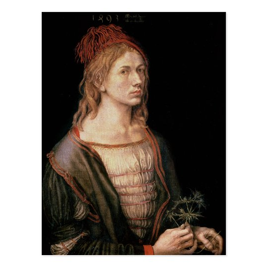 Self Portrait with a Thistle, 1493 Postcard