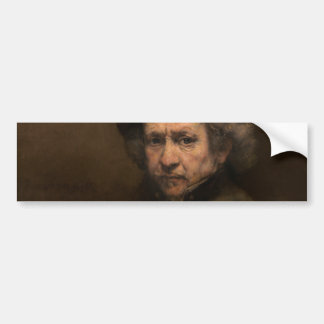 Self-Portrait with Beret by Rembrandt Bumper Sticker