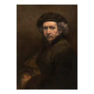 Self-Portrait with Beret by Rembrandt Cards