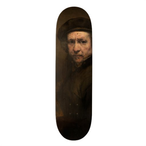 Self-Portrait with Beret by Rembrandt Skate Board Deck