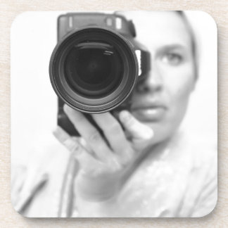 Self Portrait with Camera Drink Coasters