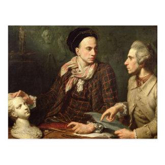 Self Portrait with Dominique Herment  1769 Postcard