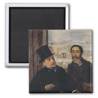 Self Portrait with Evariste de Valernes  c.1865 Fridge Magnets