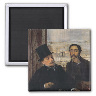 Self Portrait with Evariste de Valernes  c.1865 Square Magnet