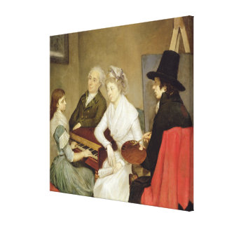 Self Portrait with Family Canvas Print