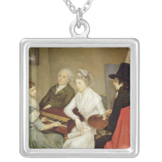 Self Portrait with Family Silver Plated Necklace