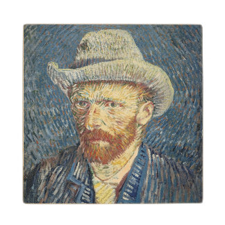 Self Portrait with Felt Hat, 1887-88 (oil on canva Maple Wood Coaster