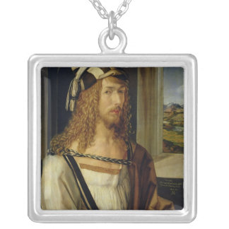 Self Portrait with Gloves, 1498 Silver Plated Necklace