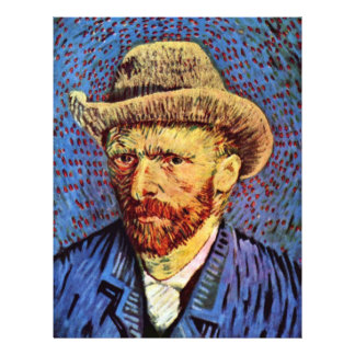 Self-Portrait With Gray Felt Hat By Vincent Van Go 21.5 Cm X 28 Cm Flyer