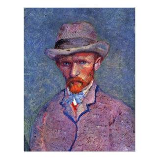 Self-Portrait With Gray Hat By Vincent Van Gogh 21.5 Cm X 28 Cm Flyer