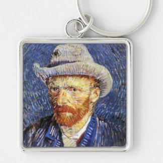 Self Portrait with Grey Felt Hat, Vincent Van Gogh Keychains