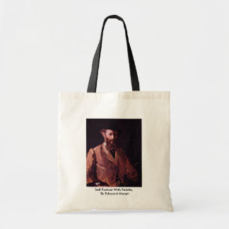 Self Portrait With Palette,  By Edouard Manet Tote Bags