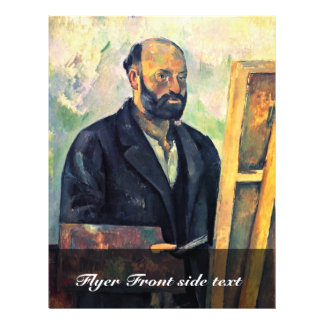 Self Portrait With Palette By Paul Cézanne Full Color Flyer