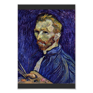 Self Portrait With Palette By Vincent Van Gogh Poster