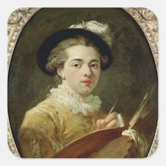 Self Portrait with palette Square Sticker