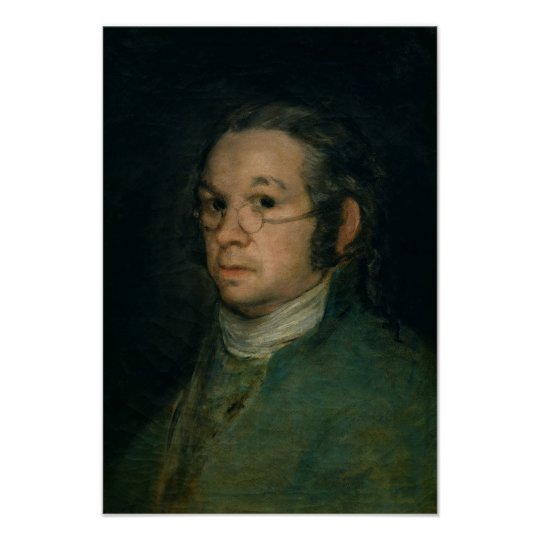 Self portrait with spectacles, c.1800 poster