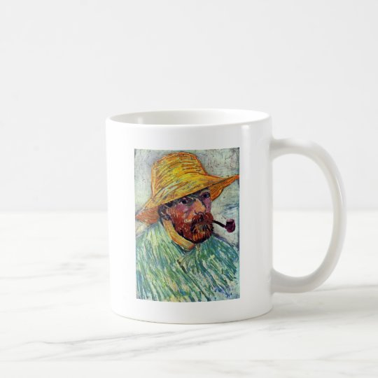 Self-Portrait With Straw Hat By Vincent Van Gogh Coffee Mug