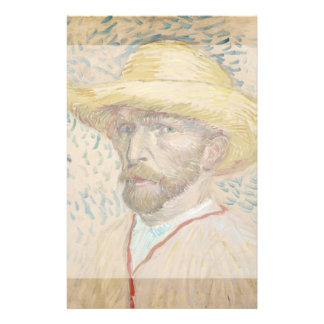 Self-Portrait with Straw Hat by Vincent Van Gogh Flyer