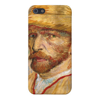 Self Portrait with Straw Hat, Vincent Van Gogh iPhone 5 Cover