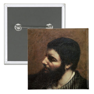 Self Portrait with Striped Collar 15 Cm Square Badge