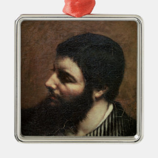 Self Portrait with Striped Collar Christmas Ornament