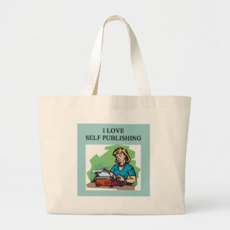 self published authors and writers jumbo tote bag
